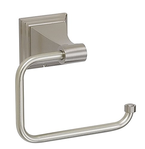 Designers Impressions 400 Series Satin Nickel Euro Toilet / Tissue Paper - Euro Paper Satin Holder Toilet