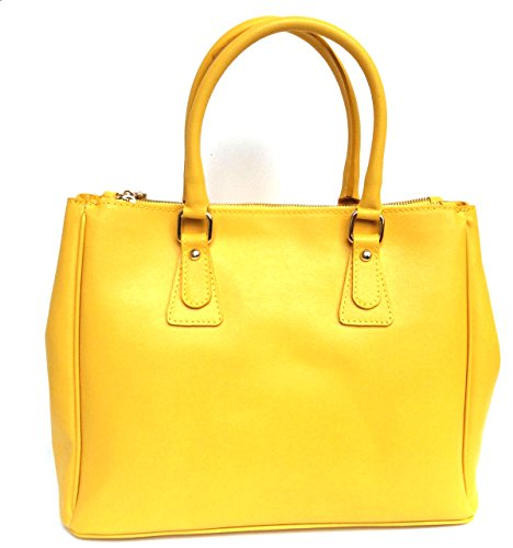 Superflybags - Bolso de asas para mujer amarillo