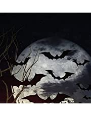 Toyvian 48 PCS PVC 3D Bat Stickers Decoration - DIY Scary Wall Bat Halloween Realistic Wall Stickers for Living Room Bedroom Halloween Party Supplies