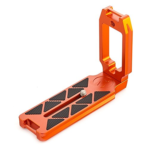 3 Legged Thing QR11-LC Universal L Bracket with Quick Release Cable Access Switch from Portrait to Landscape (Orange)