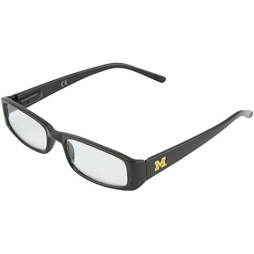 NCAA Michigan Wolverines Frame Readers +2.50 Glasses, One Size, Black