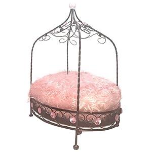 Maxx Elite Designer Furry Teacup Pet Bed (Pink)