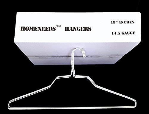 """100 100 Wire Hangers 18/"""" Standard White Clothes Hangers …"""