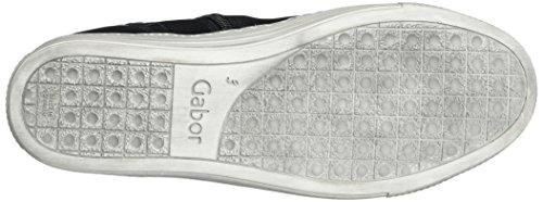 Gabor Comfort Basic, Scarpe Stringate Derby Donna Nero (Schwarz Micro)