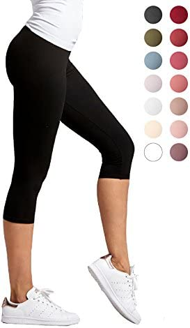 a0afd285a2e4af Conceited Premium Ultra Soft Capri Leggings - High Waist - Regular and Plus  Size - 15