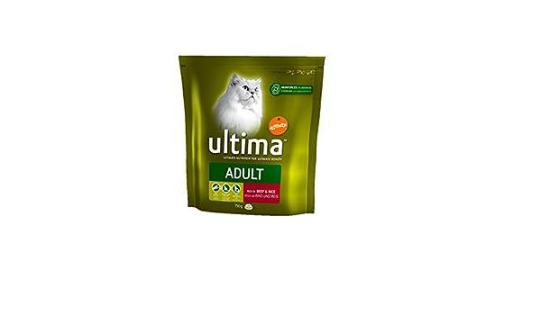 Ultima - Comida para Gato y Gato seco, 750 g, 5 Unidades: Amazon ...