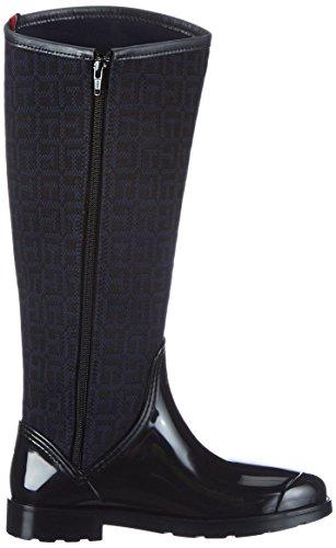 pluie femme de Tommy Bottes Hilfiger Oxford Noir Black 17C wwYAqX