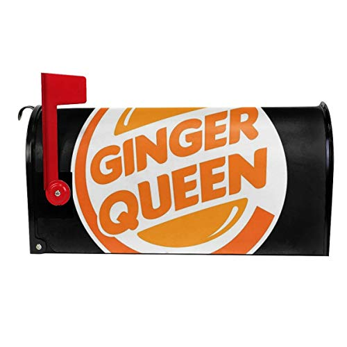 Milyla-ltd Funny Redhead Ginger Queen Magnetic Mailbox Cover Letter Post Box Cover Wrap Standard Size 21