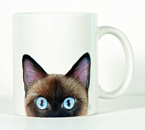 Cat Mug, Siamese Cat Mug, Personalized Cat Mug, Add Your Name or Message]()