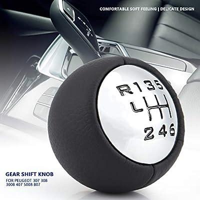 Passt für Peugeot 307 308 3008 407 5008 807 Steuerknüppel 6 Gang Schaltkugel
