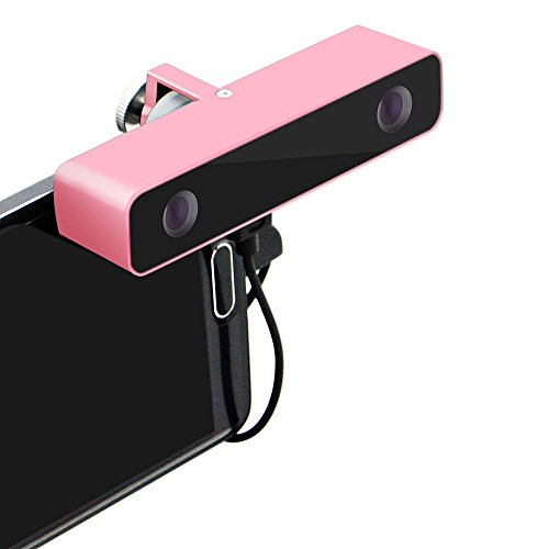 Svpro 3D Companion Panorama Camera VR Audio Video Camcorder HD Dual Lens with Aluminum Case for Android Smart Phone (single, pink)