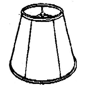 Royal Designs Deep Empire Lamp Shade, Eggshell, 11 x 22 x 16