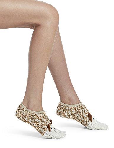 HUE Women's Critter Ultra-Soft No-Show Slipper Socks with Grippers, sandbar, One - Slipper Hue Socks