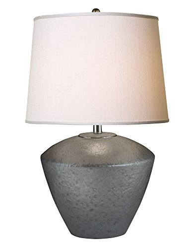 Thumprints 1230-ASL-2124 Electra Grey Table Lamp, Gray Matte Finish