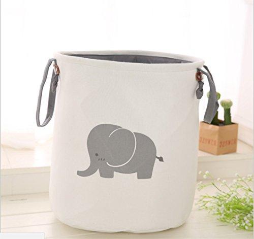 ... almacenamiento multifuncional juguetes infantiles cesta de almacenamiento plegable EVA tela de algodón doble gruesa Ronda Cesta de lavadero para su ropa ...