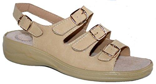 Cushion Walk - Sandalias de vestir de Material Sintético para mujer Beige - beige