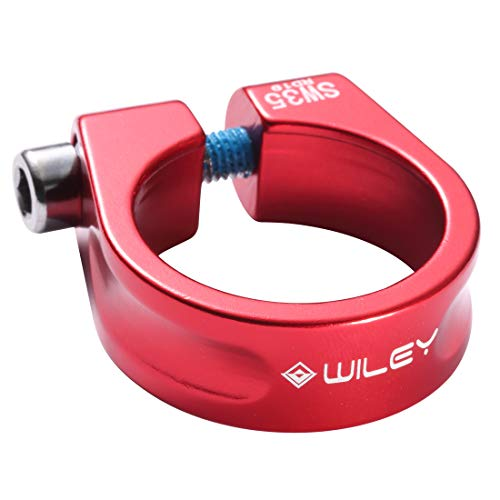 WILEY-007 Bicycle Seat Post Clamp Aluminum Alloy 31.8MM/34.9MM ()