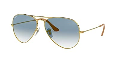 11129cac3e341 Image Unavailable. Image not available for. Color  Ray Ban RB3025 001 3F Sunglasses  Gold Metal   Blue Gradient Lenses 58mm