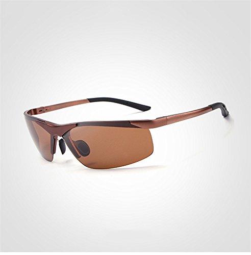 de RFVBNM plata para gafas de personalidad marrón moda de al sol Polarizador hombres aire sol gafas gafas para de libre conducir 00qx5ErHw