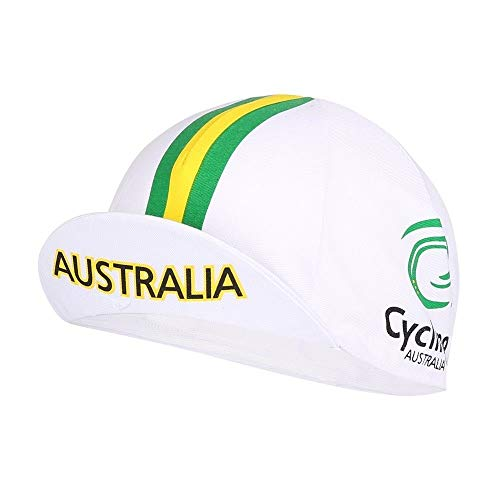 Santini Cycling Australia National Team Cap - White with Green and Gold Stripes ()