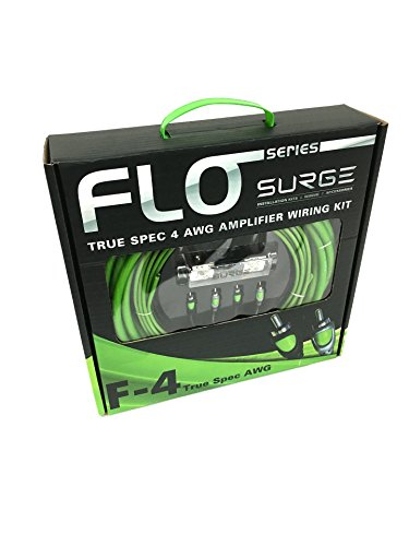 Surge F-4 Flo Series by Surge 4 Gauge 2000W AWG Amplifier Installation Wiring Amp Install Kit ()