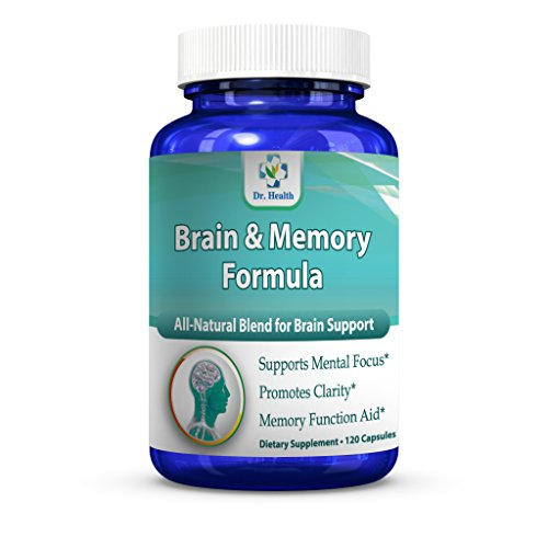 Brain and Memory Formula All Natural Formula Herbal Blend Healthy Brain Support Dietary Supplement for Focus Memory Clarity Better Sleep 120 Capsules per Bottle Large Bottle Size