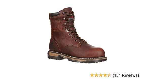 472d596aa67 Rocky Men's Iron Clad Eight Inch Work Boot