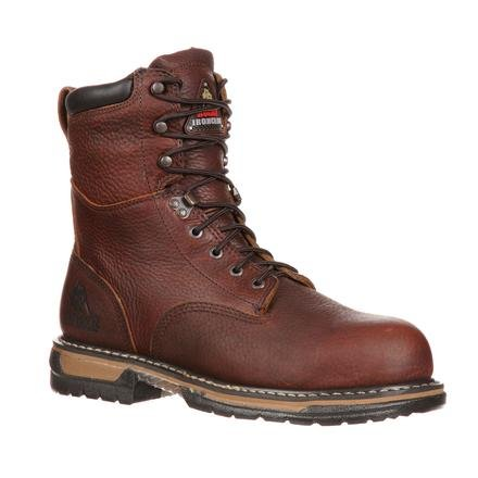 Rocky Men's Iron Clad Eight Inch Steel Toe Work Boot,Brown,12 W US ()