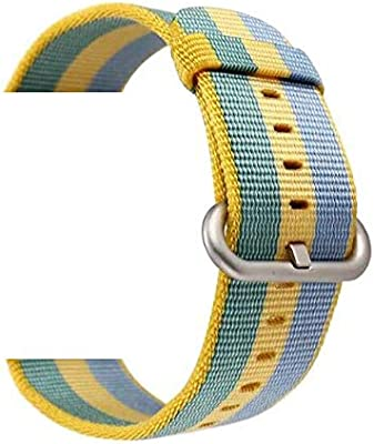 Jewh Nylon Strap Samsung Gear - Sport S2 S3 Classic Frontier - Watch Band Pebble Time Steel -Watch Band huami amazfit bip - Colorful Nylon Strap (Pollen ...