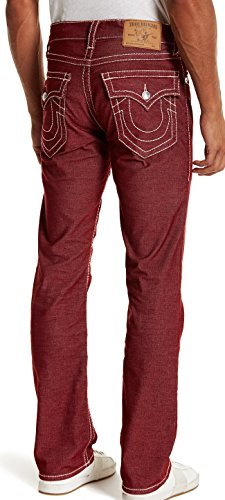 True Religion Straight Flap Natural Big T Burgundy Corduroy Pants 32x32