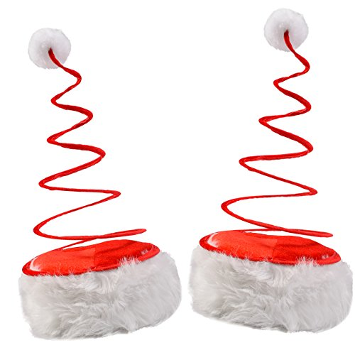 Funny Party Hats Coil Hat - Santa Coil Hats - Santa Hat - 2-Pack
