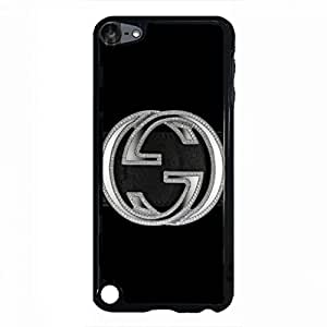 Famous Style Gucci Logo Phone Case Black Hard Plastic Case Cover Snap On Ipod Touch 5,Gucci Logo Ipod Touch 5 Case(Black)