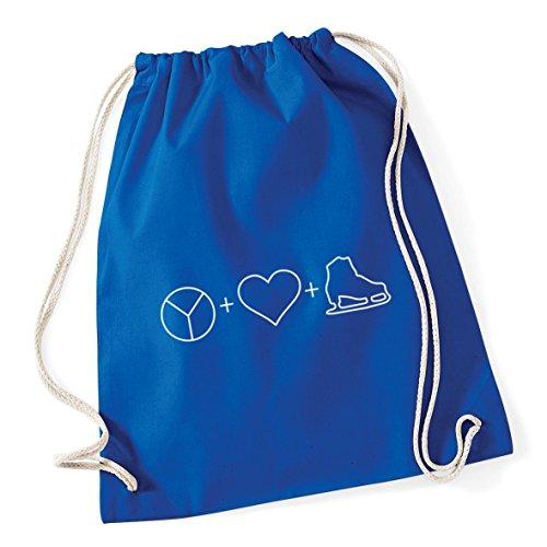 Sack Gym Peace HippoWarehouse Icons Kid 46cm Bag Ice x Cotton Love Royal 37cm and 12 Blue School litres Skate Drawstring Rzw74zq