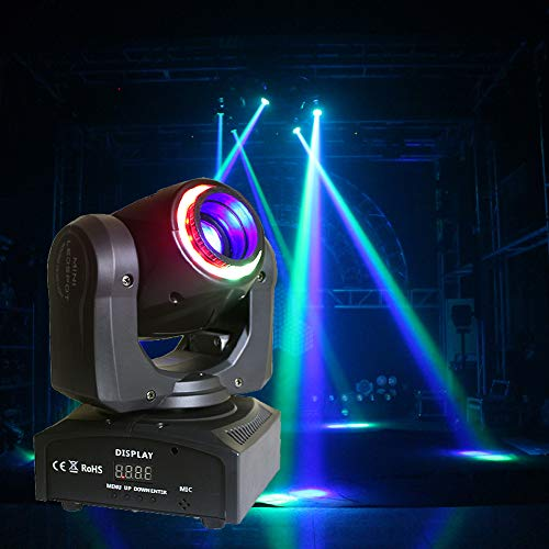 HSL Moving Head Stage Light DJ Lights 4in1 Rotating Beam Lights RGBW DMX512 Control for DJ Light, Club Light, Family Party, Disco Lights, Bar, KTV
