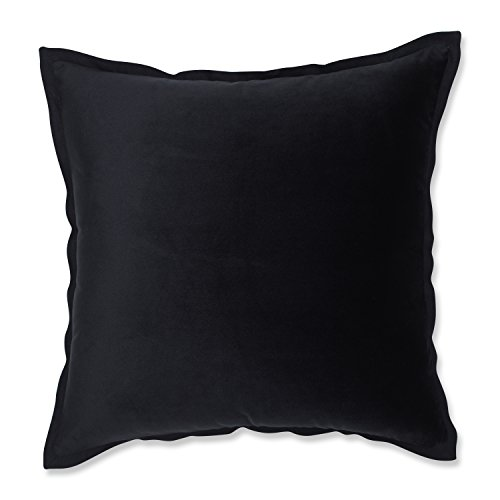 Pillow Perfect Velvet Flange Black 18-inch Throw Pillow (Velvet Black Pillows Throw)