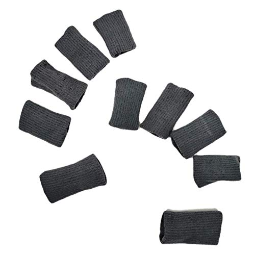 ASX Design 10pcs Sports Elastic Finger Sleeve Support Protector Gray Color
