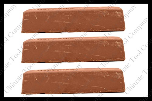 (3) 2lb Brown Polishing Compound Rogue Tripoli Steel Cut Process Aluminum