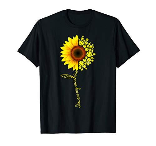 You Are My Sunshine Sunflower Softball T-Shirt Gifts