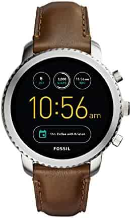 Fossil Q Men's 'Q Explorist' Quartz Stainless Steel and Leather Casual Watch, Color:Brown (Model: FTW4003)