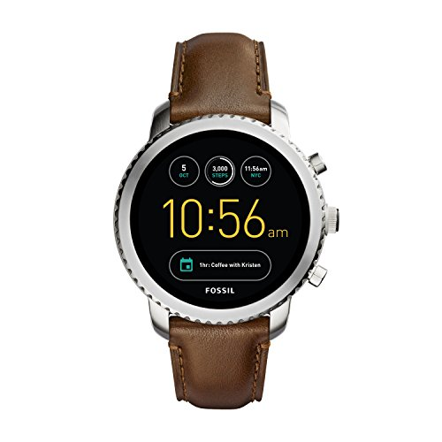 Fossil Q Men's 'Q Explorist' Quartz Stainless Steel and Leather Casual Watch, Color:Brown (Model: FTW4003) by Fossil