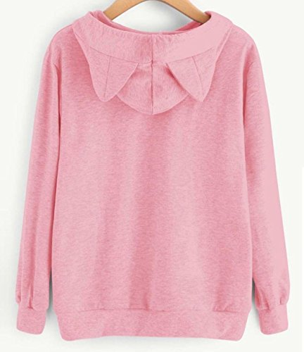 A Capuche Lettres Kawaii Rose Cosplay I'M Sweat Imprim Hoodies CAT Miracleoccur Sweats Femmes Chat Automne Tops Longue Pull Femme shirt Hiver Manche WPa7wW1Y4
