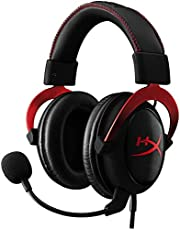 HyperX Cloud II Gaming Headset | 7.1 Surround Sound | aluminum Frame | Detachable Noise Cancelling Microphone | Hi-Fi with 53mm audio drivers | Compatible with PC/PS4/Xbox/Mac/Mobile/VR - RED
