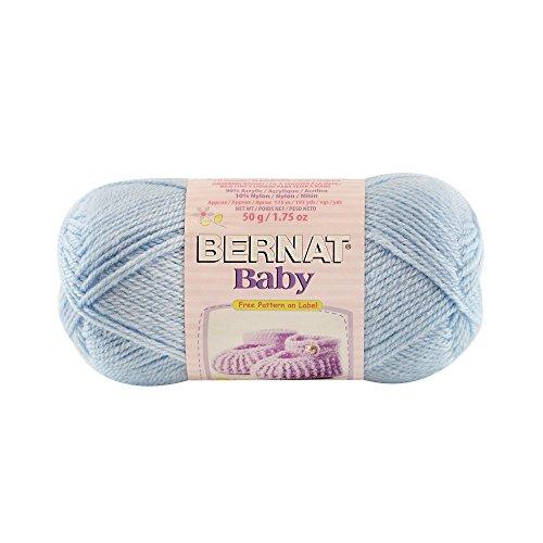 Bernat Baby Solid Yarn - (1) Super Fine Gauge  - 1.7 oz -   Blue  -  Machine Wash & Dry For Crochet, Knitting & Crafting