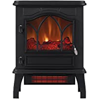 ChimneyFree 5,200 BTU Electric Infrared Quartz Stove Heater (Black)