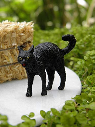 Fairy & Garden Magic Miniature Dollhouse Accessories ~ Black Halloween Cat ~ New Mini Garden -
