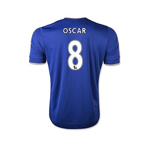 命令的スクレーパー対角線Adidas Oscar #8 Chelsea Home Soccer Jersey 2015(Authentic name and number of player)/サッカーユニフォーム チェルシーFC ホーム用 オスカル 背番号8 2015