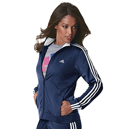 adidas Women's Designed-2-Move Track Jacket, Collegiate Navy/White, XX-Large (Fox Sports Bra)