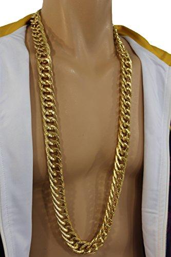Tfj Men Fashion Necklace Metal Chunky Chain Links Extra