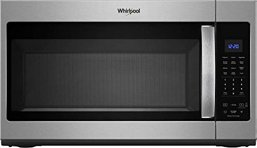 Whirlpool – 1.9 Cu. Ft. Over-the-Range Microwave with Sensor Cooking – Fingerprint Resistant Stainless Steel