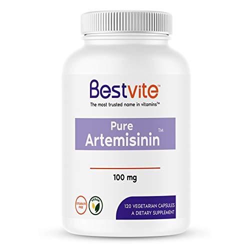 Artemisinin 100mg (120 Vegetarian Capsules) - No Stearates - No Flow Agents